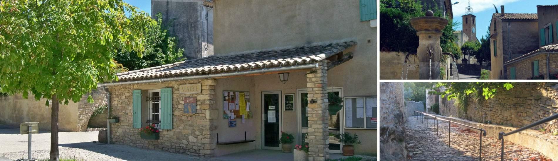 Mairie du village de Faucon, Provence, Vaucluse (84110)