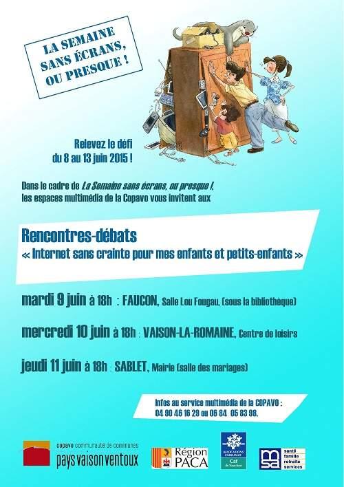 semaine sans ecran Faucon COPAVO Vaucluse