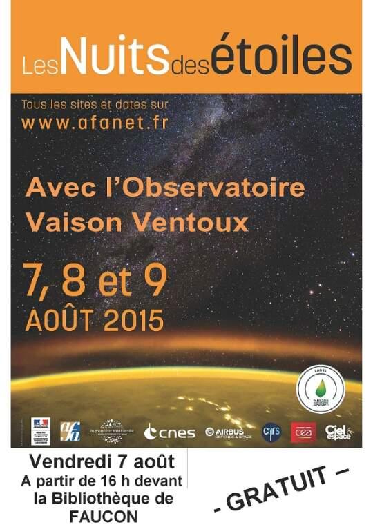 Nuit des Etoiles du vendredi 7 aout 2015