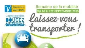 Semaine Européenne de la Mobilité du 16 au 22 septembre 2015