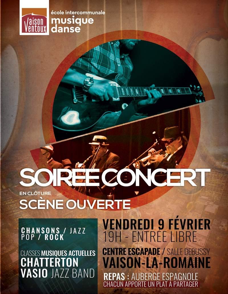 Soirée concert ecole intercommunale de musique vaison la romaine