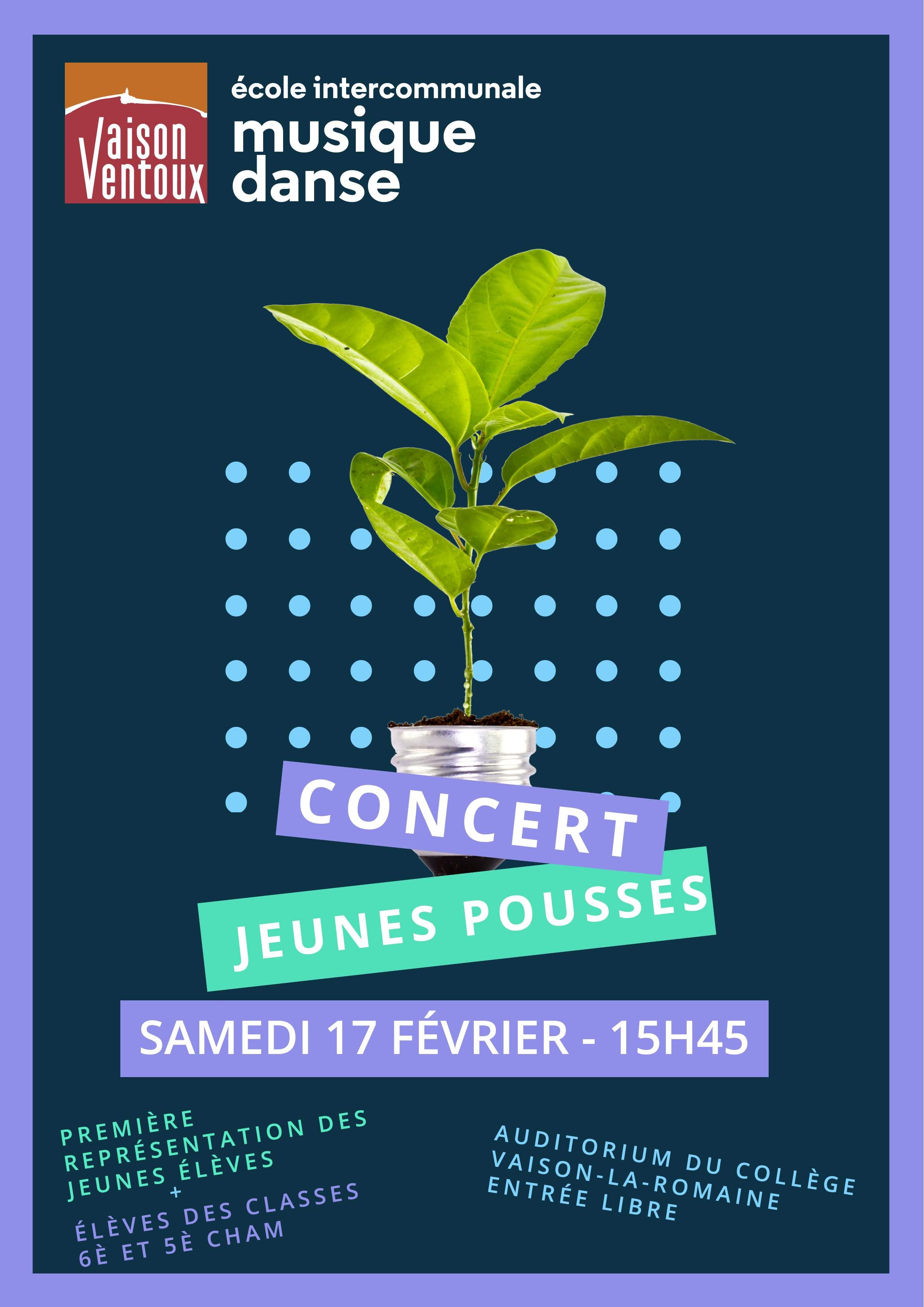 Concert Jeunes pousses de Vaison-la-Romaine