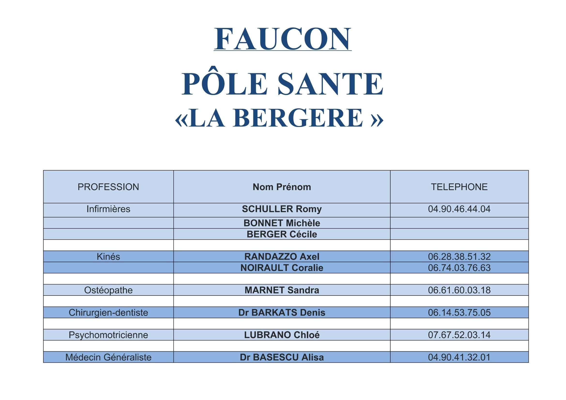 Pôle Santé « La Bergère » à Faucon