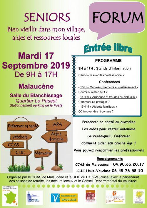 Forum séniors à Malaucène