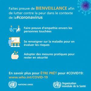 conseils de l'OMS amitie pour les habitants de Faucon Vaucluse Provence