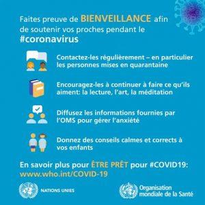conseils de l'OMS bienveillance pour les habitants de Faucon Vaucluse Provence