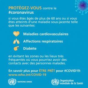 conseils de l'OMS protection pour les habitants de Faucon Vaucluse Provence