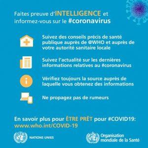 conseils de l'OMS s informer pour les habitants de Faucon Vaucluse Provence 2