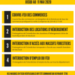 prorogation des arretes prefectoraux en vaucluse et a faucon en mai 2020 face au COVID19