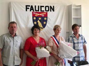 Passation de pouvoir pour le nouveau conseil municipal de Faucon en 2020