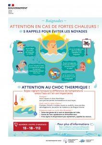 Prévention des noyades en cas de chaleur dans la commune de Faucon en Provence Vaucluse