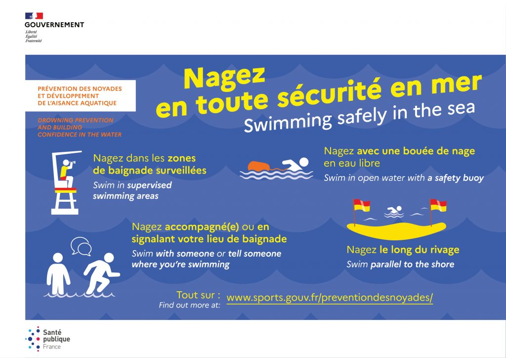 Prevention Noyade dans le village de Faucon et en Mer (Provence, Vaucluse)