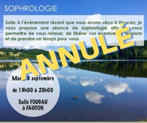 Sophrologie de septembre à Faucon annulé