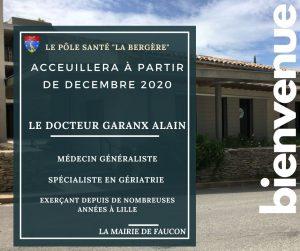 """Pôle santé """"la bergère"""" : un nouveau médécin dès décembre 2020"""