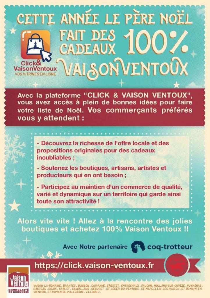 Lancement de la plateforme Click - Vaison Ventoux - Faucon- Vaucluse