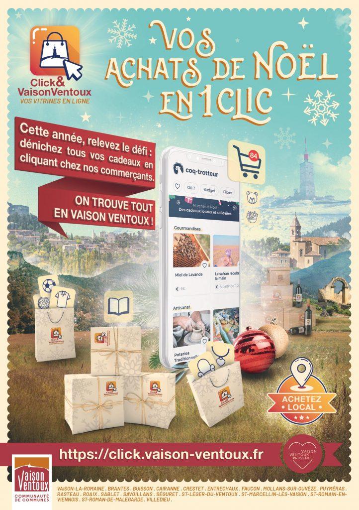 Lancement de la plateforme « Click & Vaison Ventoux »  pour les fêtes de fin d'année à Noel