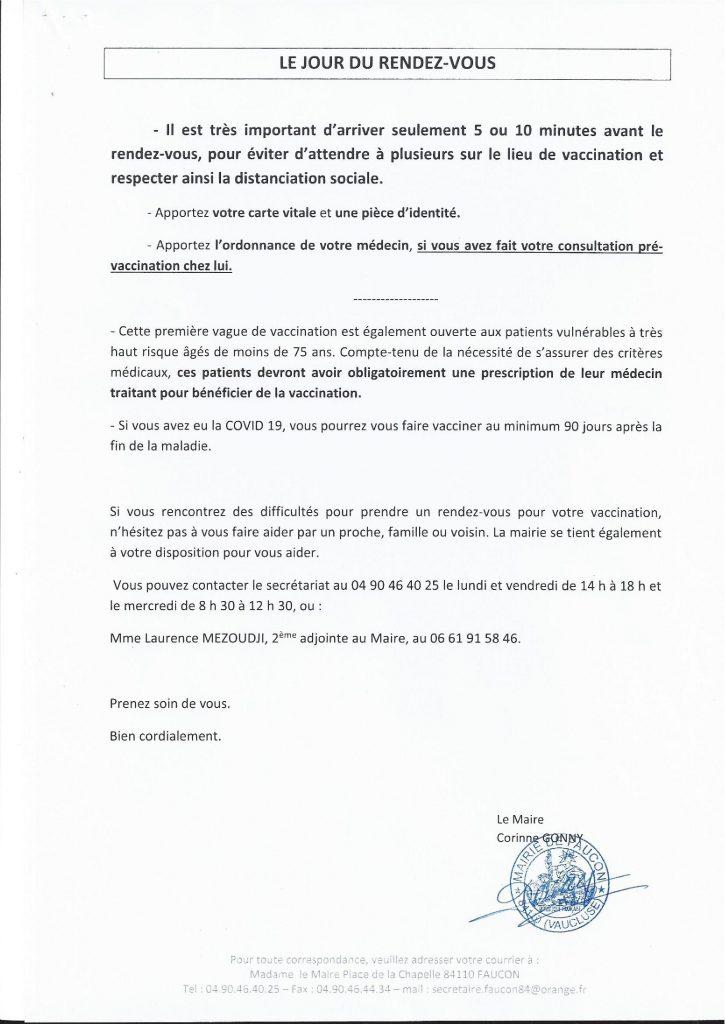 Pour les habitants de Faucon : prendre RDV pour se faire vacciner contre la Covid-19 à Vaison-la-Romaine