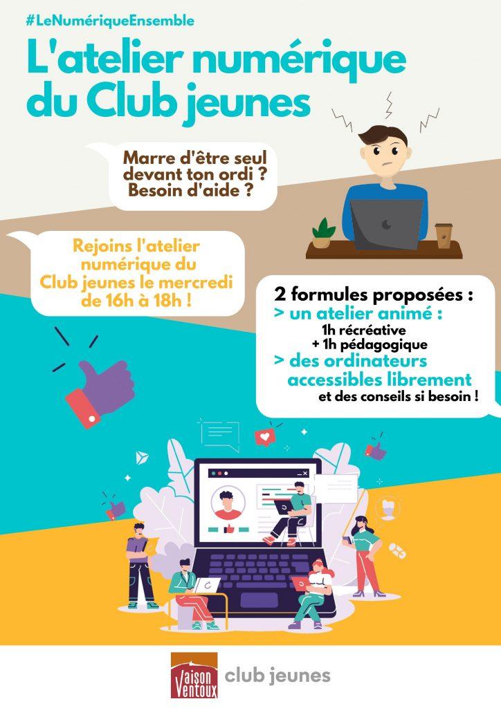 L'atelier numérique du Club jeunes