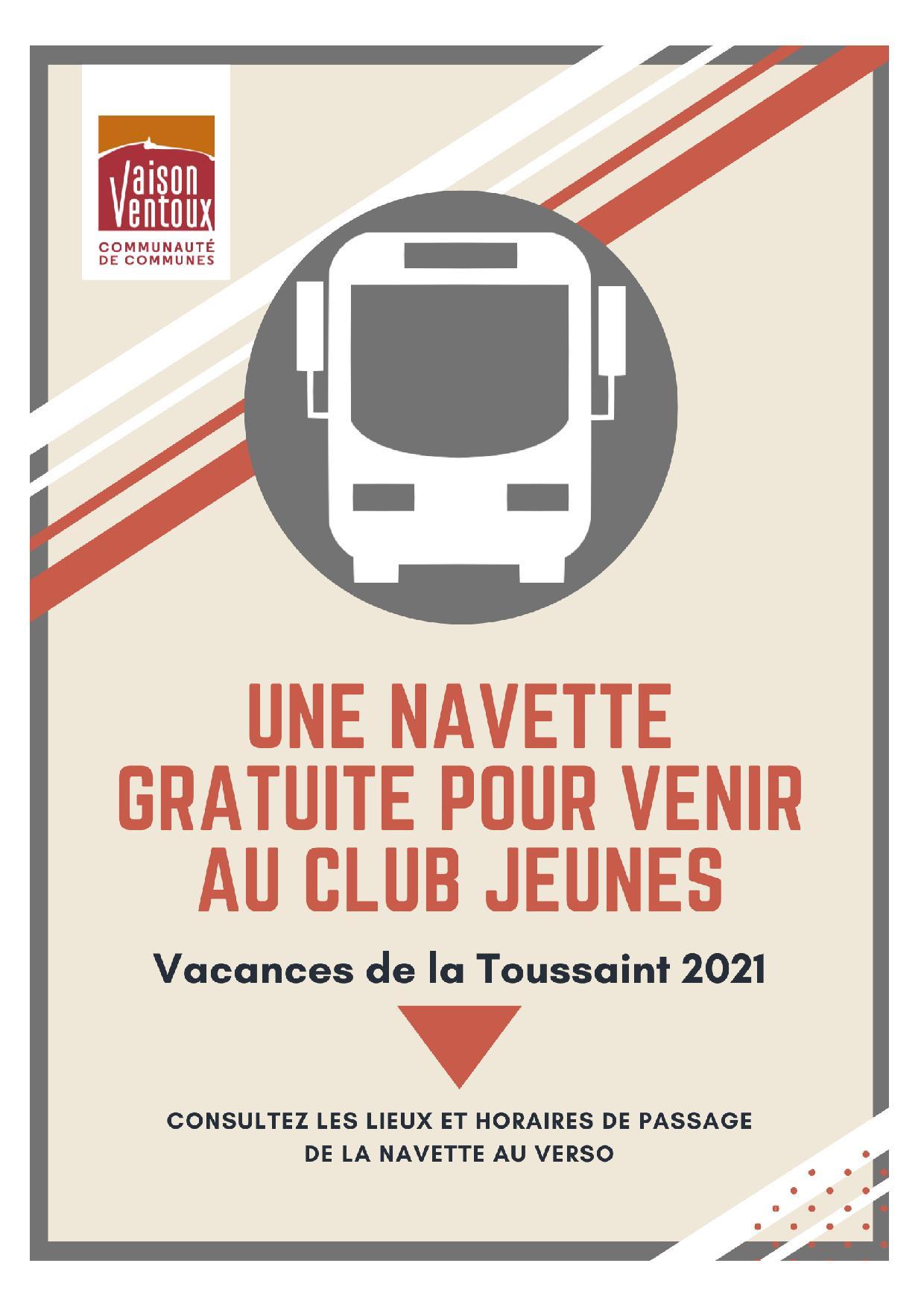 Communauté de communes Vaison Ventoux met : navette gratuite pendant les vacances de la Toussaint